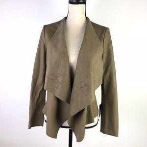 New Zara Open Faux Leather Light Brown Jacket S